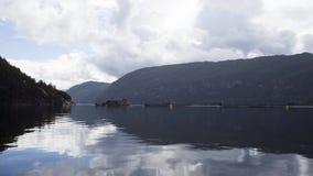 Impresa di piscicoltura norvegese Immagini Stock Libere da Diritti