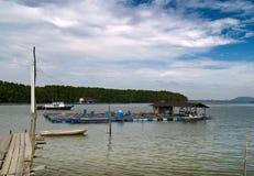 Impresa di piscicolture commerciale Immagine Stock