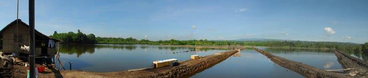 Impresa di piscicolture in Filippine Fotografie Stock