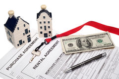 Impresa immobiliare e pianificazione finanziaria Fotografia Stock Libera da Diritti