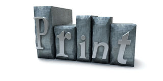 Impresión Fotografía de archivo libre de regalías