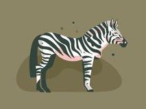 Impresión africana gráfica moderna del arte de los ejemplos del collage del concepto de Safari Nature del vector de la mano de la ilustración del vector