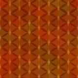 Impresión anaranjada rojo marrón de la materia textil de la decoración del moho del adorno del vintage geométrico redondo abstrac Imagenes de archivo