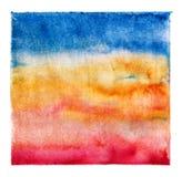 Impresión artística brillante de la pendiente en la lona, ejemplo pintado a mano de la acuarela Imagen de archivo libre de regalías
