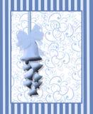 Impresión azul de Belces de boda Fotos de archivo libres de regalías