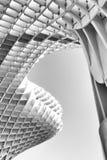 Impresión blanco y negro de parasol de Metropol en Sevilla fotografía de archivo libre de regalías