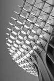 Impresión blanco y negro de parasol de Metropol en Sevilla fotografía de archivo