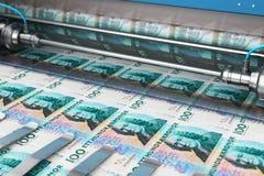 Impresión de 100 billetes de banco del dinero de la corona sueca del SEK libre illustration