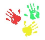 Impresión de color de la mano Stock de ilustración