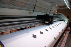 Impresión de Digitaces - impresora ancha del formato foto de archivo