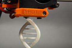 Impresión de espiral de la DNA imágenes de archivo libres de regalías