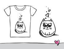 Impresión de la camiseta stock de ilustración