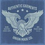 Impresión de la camiseta de Eagle Imagenes de archivo