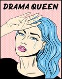 Impresión de la camiseta de la reina del drama del ejemplo del arte pop libre illustration