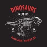 Impresión de la camiseta del dinosaurio Imagen de archivo libre de regalías