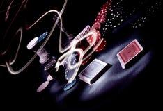 Impresión de la luz del engranaje del póker Imagen de archivo libre de regalías