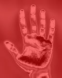 Impresión de la mano Fotos de archivo libres de regalías