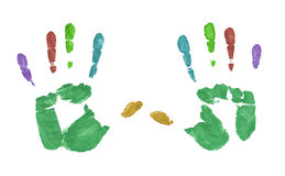 Impresión de la mano Imagen de archivo