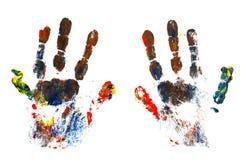 Impresión de la mano Foto de archivo