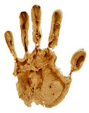 Impresión de la mano aislada en blanco Fotos de archivo libres de regalías