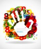 Impresión de la mano con números libre illustration