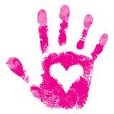 Impresión de la mano de la ayuda de la gente Imagenes de archivo