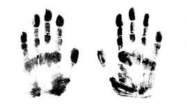Impresión de la mano del modelo humano, lindo de la textura de la piel, ejemplo del grunge del vector Exploración de los fingeres libre illustration