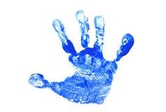 Impresión de la mano del niño Imagenes de archivo
