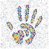 Impresión de la mano del punto Fotos de archivo libres de regalías