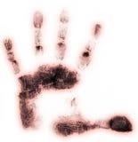 Impresión de la mano izquierda Imagenes de archivo