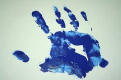 Impresión de la palma Foto de archivo libre de regalías