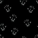 Impresión de la palma dibujada en tiza Imágenes de archivo libres de regalías