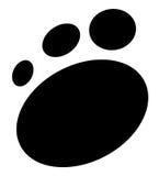 Impresión de la pata Foto de archivo libre de regalías