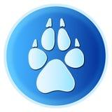 Impresión de la pata del perro Imagen de archivo libre de regalías