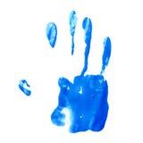 Impresión de la pintura de aceite de palma de la mano foto de archivo