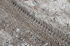 Impresión de la pisada en la tierra Imagen de archivo libre de regalías