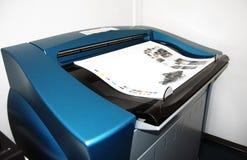 Impresión de la prensa de Digitaces - pruebas fotografía de archivo libre de regalías