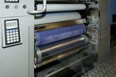 Impresión de la prensa (imprenta) - compense, detalle fotografía de archivo