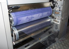Impresión de la prensa (imprenta) - compense, detalle fotos de archivo libres de regalías