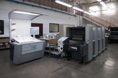 Impresión de la prensa (imprenta) - desplazamiento imagen de archivo libre de regalías