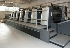 Impresión de la prensa - máquina compensada Imágenes de archivo libres de regalías