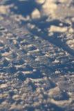 Impresión de la rueda en nieve Imágenes de archivo libres de regalías