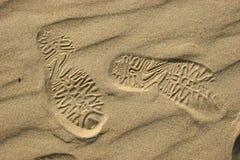 Impresión de la sandalia Imagen de archivo libre de regalías