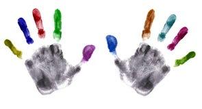 Impresión de las manos (muy detallada) Foto de archivo libre de regalías