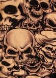 Impresión de los cráneos imagen de archivo