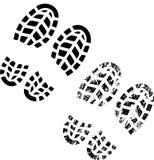Impresión de los zapatos Imágenes de archivo libres de regalías