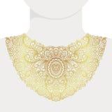 Impresión de oro decorativa del cuello de la moda libre illustration