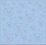 Impresión de tarjeta azul de cumpleaños de la cerveza del bebé Imagen de archivo libre de regalías