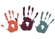 Impresión de tres palmas libre illustration