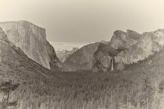 Impresión del albumen - valle de Yosemite fotografía de archivo